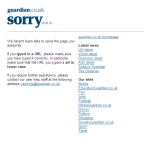 Guardian Newspaper 404 page