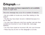 Telegraph 404 page