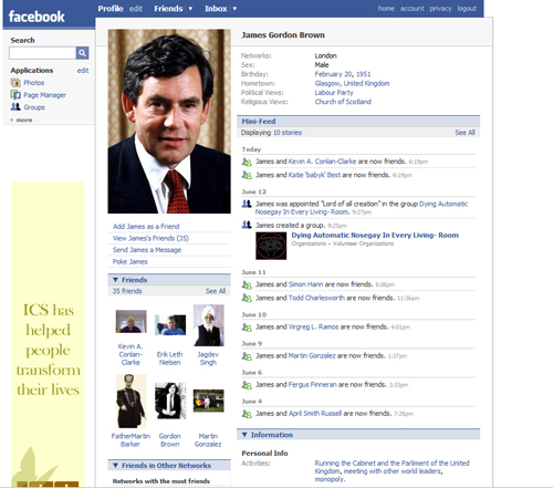 Will the real Gordon Brown please get a real Facebook profile