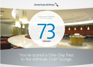 American Airlines and Klout