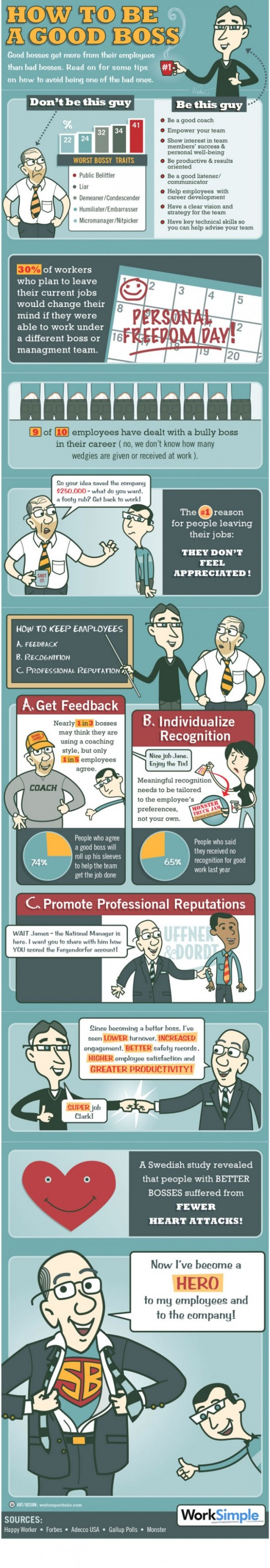 What makes a good boss (infographic)